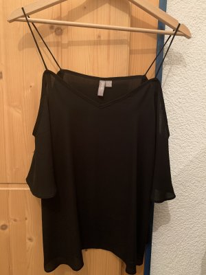 Asos Camisa de un solo hombro negro