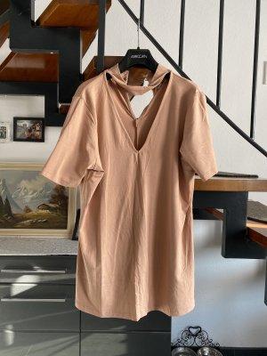 asos curve Koszulka z dekoltem w kształcie litery V nude