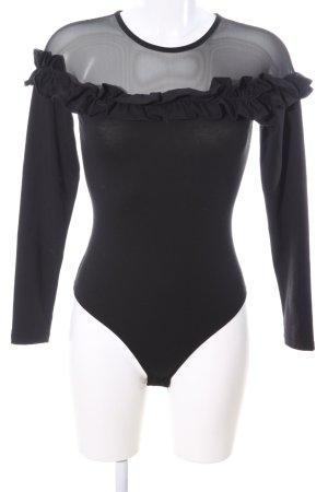 Asos Shirtbody schwarz Elegant
