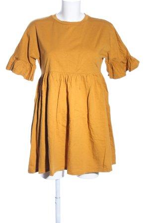 Asos Vestido estilo camisa naranja claro look casual