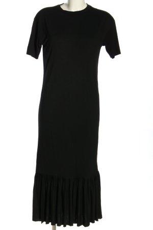 Asos Sukienka z krótkim rękawem czarny W stylu casual