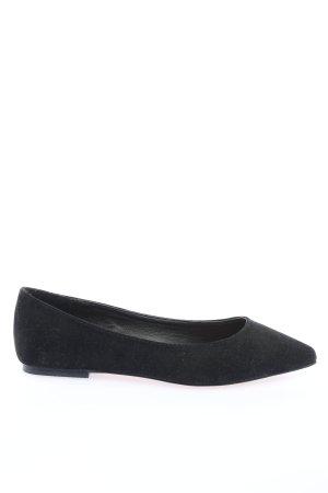 Asos Shoes Baleriny z koronką czarny W stylu biznesowym