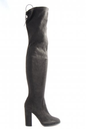 Asos Shoes Buty nad kolano czarny W stylu casual