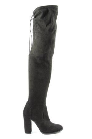 Asos Shoes Kniehoge laarzen zwart casual uitstraling