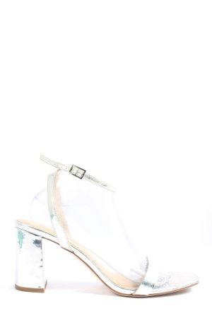 Asos Shoes Czółenka z odsłoniętym palcem srebrny Elegancki