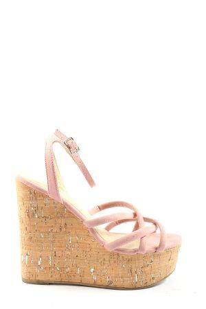 Asos Shoes Plateauzool sandalen roze-bruin casual uitstraling