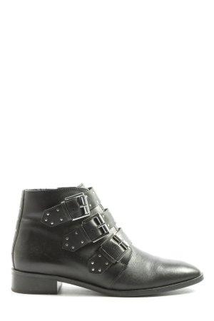 Asos Shoes Laarsjes met rits zwart casual uitstraling