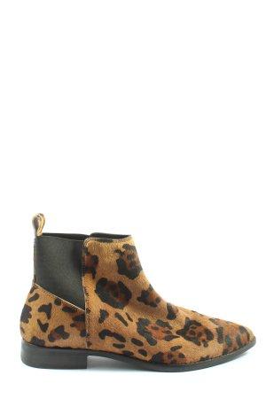 Asos Shoes Slip-on Booties animal pattern casual look