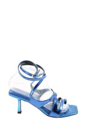 Asos Shoes Czółenka z paskiem za piętą niebieski Elegancki
