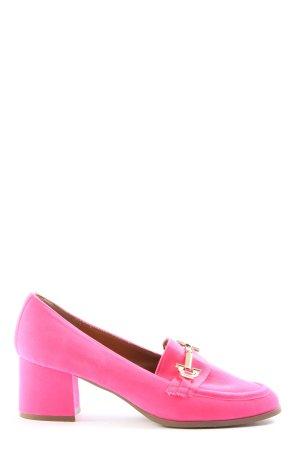Asos Shoes Mokasyny na obcasie różowy W stylu casual