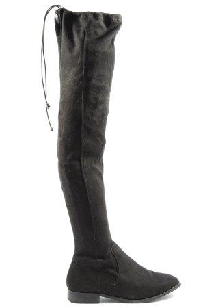 Asos Shoes Botas de pantorrilla ancha negro look casual