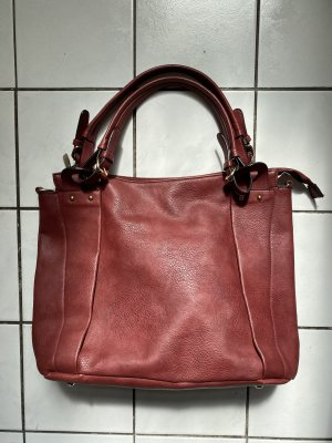 Asos Shopper XL Tasche Bordeaux rot