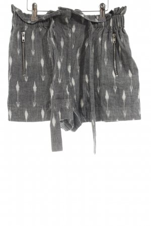 Asos Shorts hellgrau-weiß grafisches Muster Casual-Look