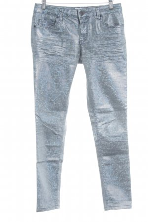 Asos Skinny Jeans blassblau-graublau Leomuster Street-Fashion-Look