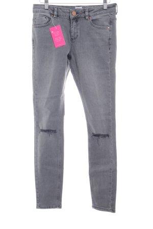 Asos Skinny Jeans grau Casual-Look