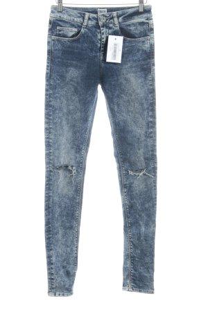 Asos Skinny Jeans stahlblau-blassblau Casual-Look