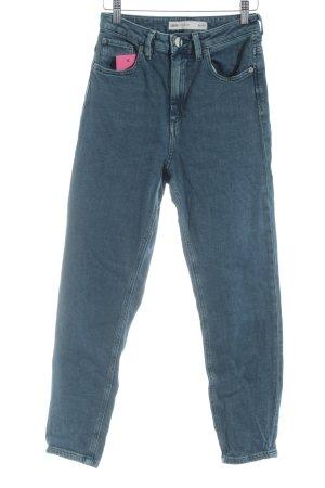 Asos Skinny Jeans stahlblau Casual-Look