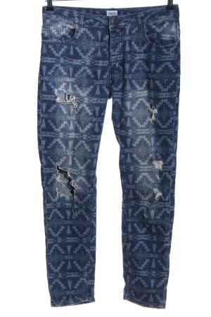 Asos Jeans slim bleu-gris clair motif graphique style décontracté