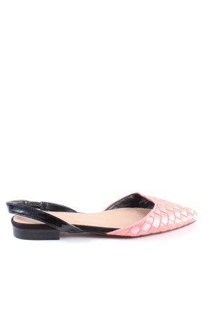 Asos Slingback Ballerinas pink-schwarz Casual-Look
