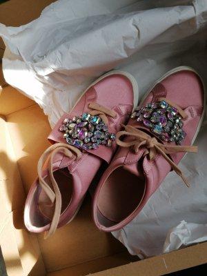 ASOS Sneaker rosa  Glitzersteine Satin Gr. 39