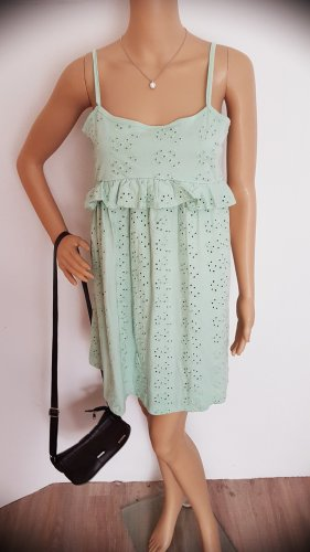 Asos Peplum Dress pale blue-sage green