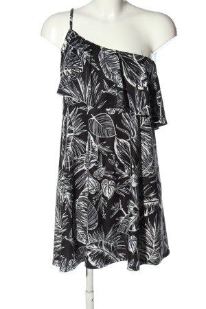 Asos Sommerkleid schwarz-weiß Allover-Druck Casual-Look