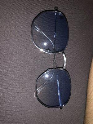 Asos Lunettes retro argenté-bleu azur