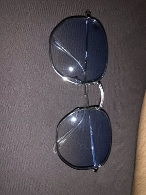 Asos Okulary retro srebrny-błękitny