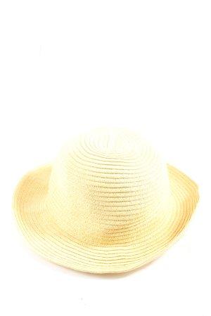 Asos Kapelusz przeciwsłoneczny bladożółty Wzór w paski W stylu casual