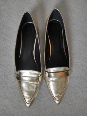 Asos spitze Ballerinas gold metallic Gr. 7 / 40.5