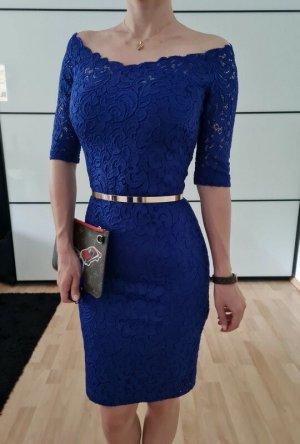 Asos Spitze Kleid XXS XS S 32 34 36 blau Sommerkleid Bodycon Minikleid Etuikleid Neu