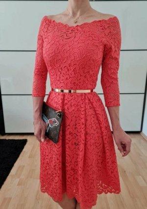 Asos Spitze Kleid XXS XS S 32 34 36 pink Sommerkleid Bodycon Minikleid Etuikleid Neu