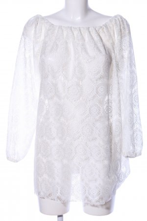Asos Lace Blouse white mixed pattern casual look
