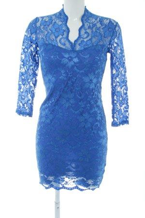 Asos Spitzenkleid blau Blumenmuster Elegant