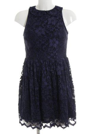 Asos Spitzenkleid blau-schwarz Elegant