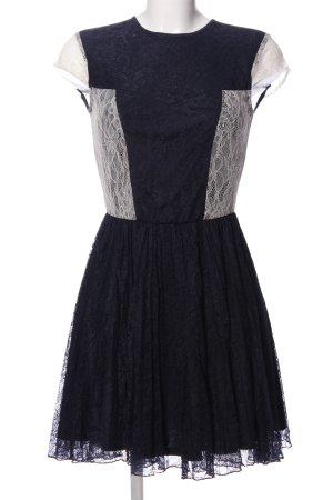 Asos Spitzenkleid schwarz-weiß Elegant
