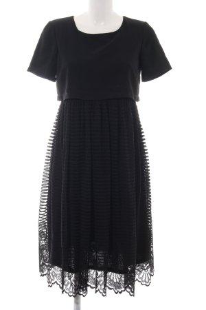 Asos Kanten jurk zwart Polyester