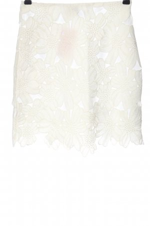 Asos Lace Skirt white flower pattern casual look