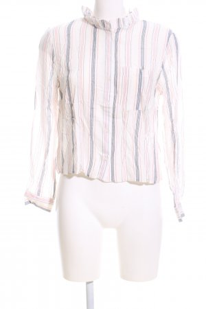 Asos Stand-Up Collar Blouse striped pattern casual look