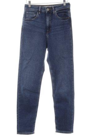 Asos Straight-Leg Jeans dunkelblau Casual-Look