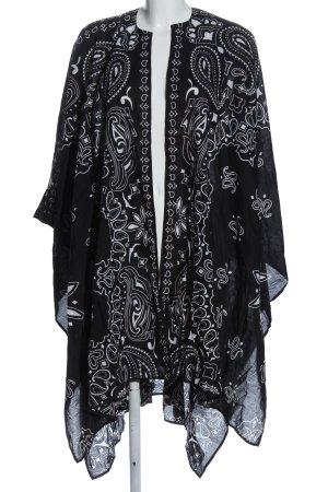 Asos Strandbekleidung schwarz-weiß Motivdruck Casual-Look