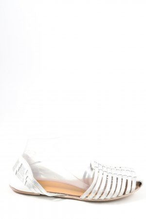 Asos Beach Sandals white-silver-colored casual look