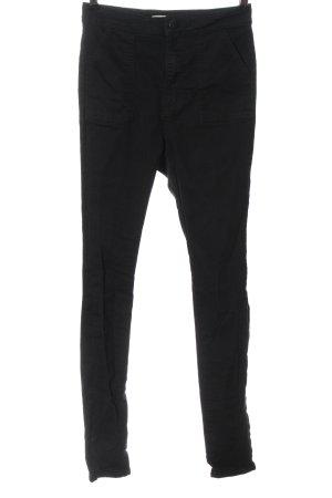 Asos Spodnie ze stretchu czarny W stylu casual