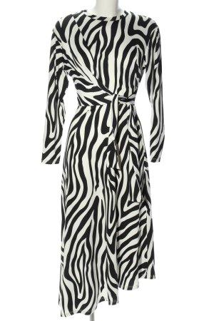 Asos Stretchkleid schwarz-weiß Streifenmuster Casual-Look