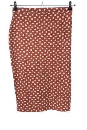 Asos Spódnica ze stretchu brązowy-biały Na całej powierzchni W stylu casual