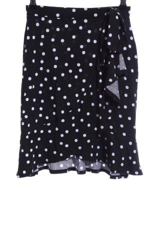 Asos Stretchrock schwarz-weiß Punktemuster Casual-Look