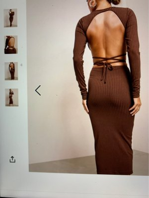 ASOS DESIGN Pencil Dress brown polyester