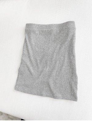 Asos Gonna lavorata a maglia grigio chiaro-grigio