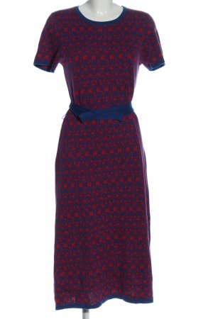 Asos Strickkleid blau-rot abstraktes Muster Casual-Look