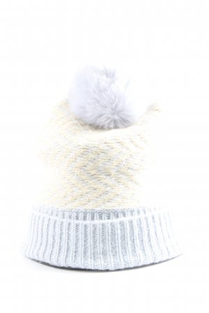 Asos Knitted Hat blue-cream casual look